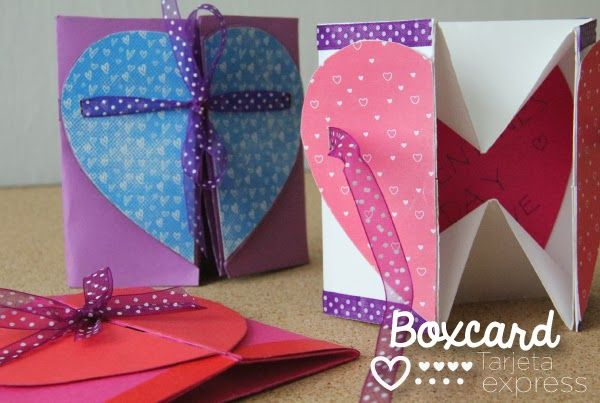 BoxCard: Caja-tarjeta 2 en 1 para enamorados.