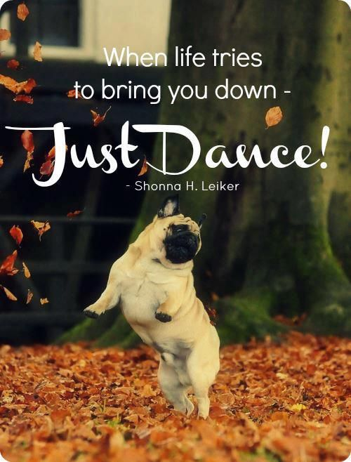 When life tries to bring you down Just Dance <3 #quote