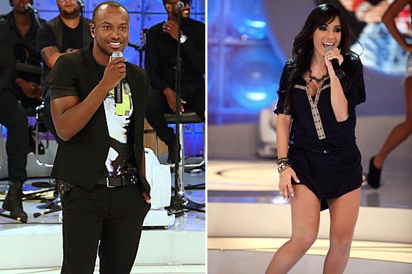 Thiaguinho e Anitta participam ao vivo do Domingo Legal