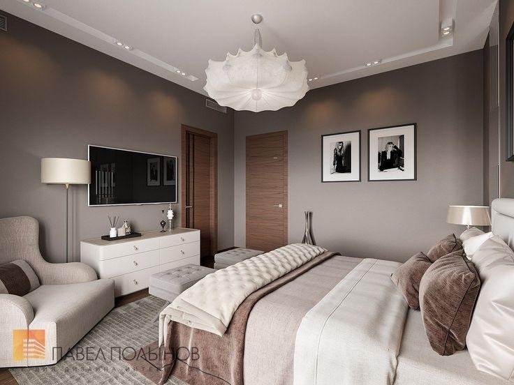 Фото дизайн интерьера спальни из проекта «Дизайн интерьера трехкомнатной квартиры 127 кв.м., ЖК «Парадный квартал», современный стиль»