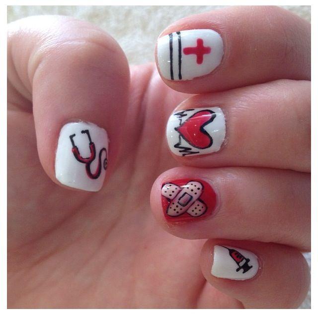 Nursing nail art