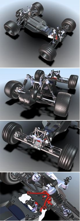 If you want details, grab the biggest box you have and start gathering them from RC Truck by tateowen! There may even be a miniature mechanic in there somewhere fine tuning the suspension. This fantastic model was created using SolidWorks. #3D
