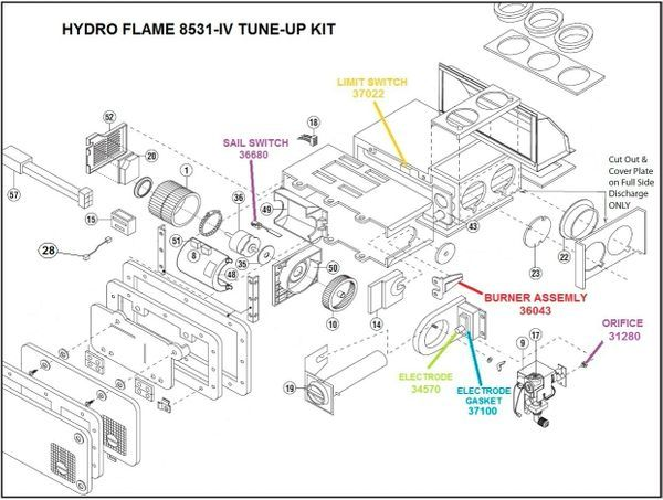 Atwood / HydroFlame Furnace Model 8531-IV Tune-Up Kit | Furnace, Tent  trailer, Hydro | Hydro Flame Furnace Wiring |  | Pinterest