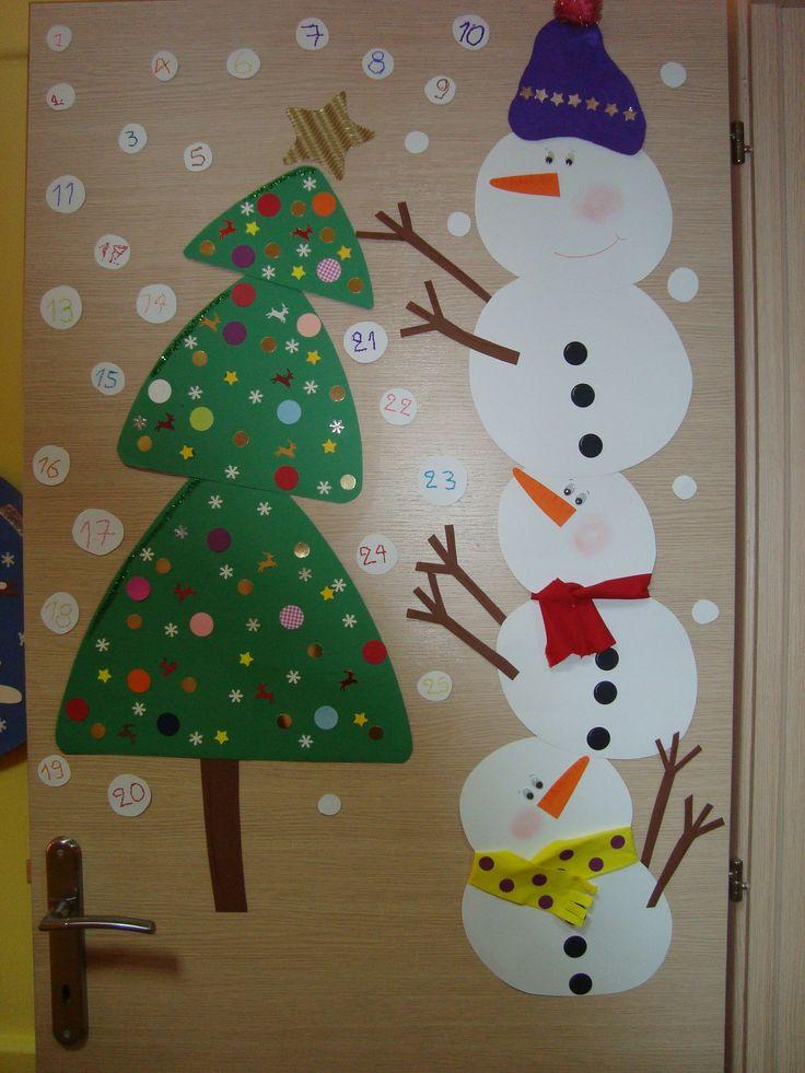 Days until Christmas # snowmen- door decoration