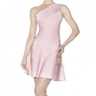 ace5a22e5ee6 Herve Leger For Cheap Pink Sydney One Shoulder Bandage Dress
