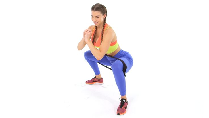 Lift Your Butt with Nothing But a Pair of Tights: This simple fitness hack turns an ordinary pair of tights into a resistance band. All the butt-lifting with none of the equipment!