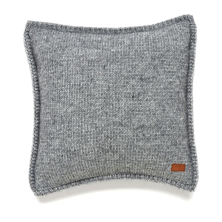 Gant Solid Knit Kissenbezug 50 x 50 cm grau