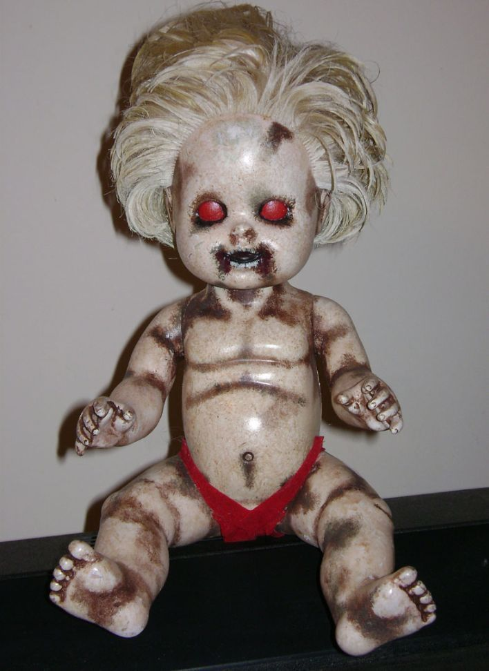creepy portraits | Home Haunt Products Handmade Halloween Props Scary Baby