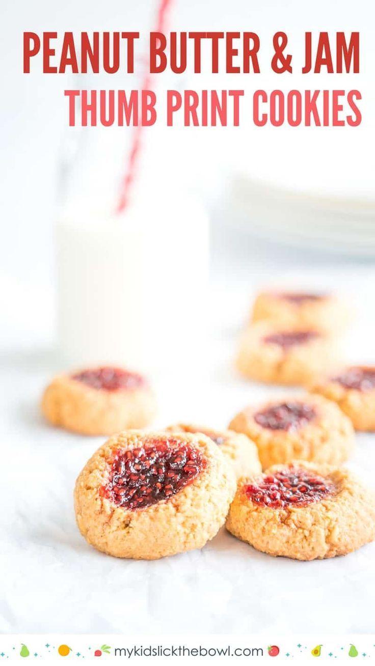 Peanut Butter And Jam Thumbprint Cookies Recipe Dessert