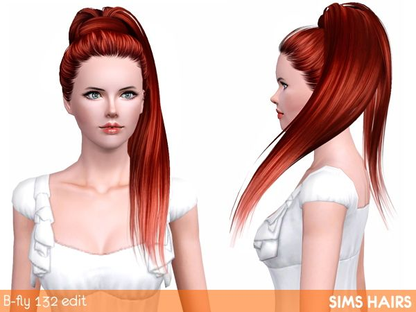Shiny retexture for B-fly's AF 132 hairstyle by Sims Hairs for Sims 3 - Sims Hairs - http://simshairs.com/downloads-sims3-sims4/shiny-retexture-for-b-flys-af-132-hairstyle-by-sims-hairs/