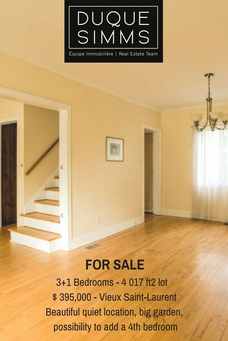Charming & cosy house in lovely Old Saint Laurent for sale! A perfect starter home.  #Montreal #OldSaintLaurent #RealEstate #Realtors #Brokers #House #Home
