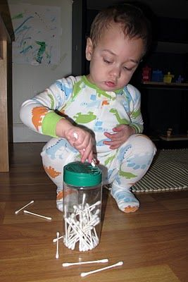 My toddler used to spend ages doing this, great for concentration, fine motor skills and quiet!!