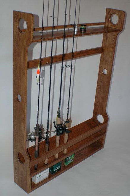 The 25 best fishing rod rack ideas on pinterest fishing for Wooden fishing pole