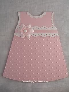 Cuttlebug card - little girl's dress card