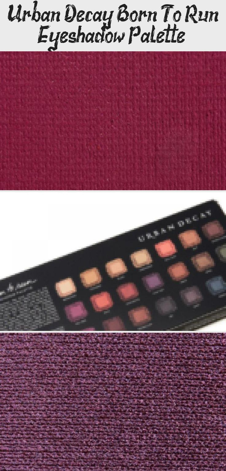 Urban Decay Born To Run Eyeshadow Palette Pinokyo in