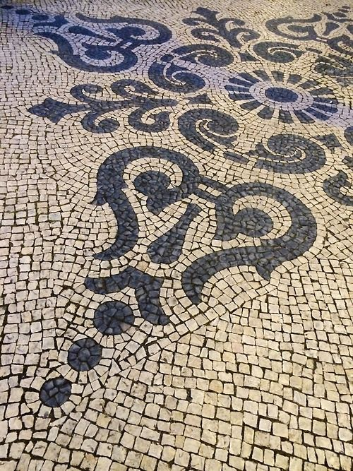 Traditional cobblestone pavement #Lisbon #Portugal
