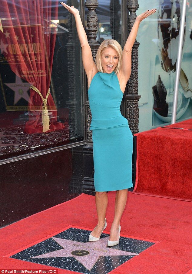 Pride of place: Kelly's star is situated right outside the El Capitan theatre, and next to...