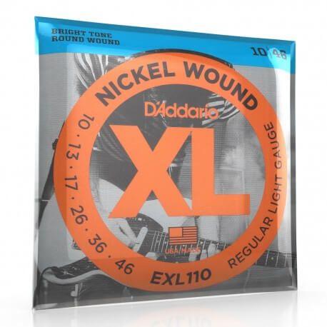 D'Addario XL : Cordes pour guitare électrique EXL110 tirant 10 46