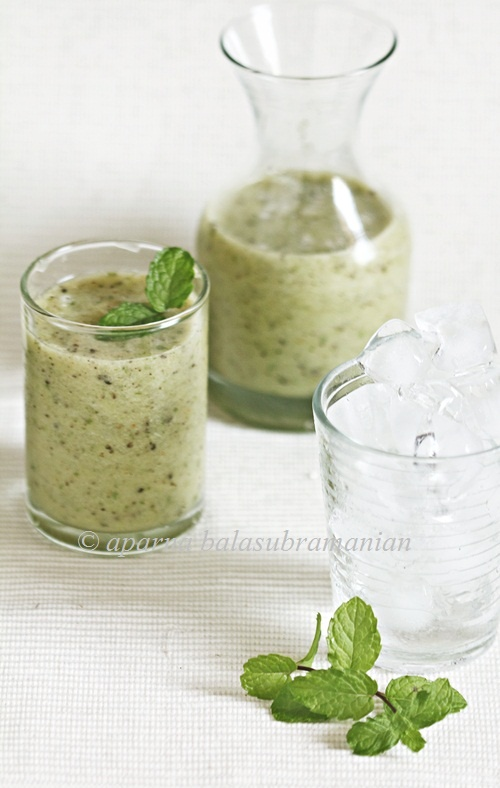 Kiwifruit, Green Grape & Mint Frappé - the perfect drink during sultry South African summers #14DaysOfZespriSA