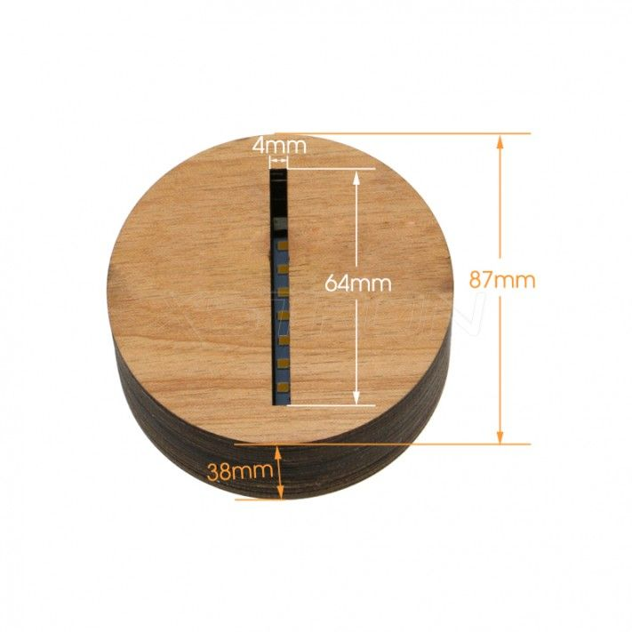 Wooden #LED #Base Warm Yellow Light USB Charging for 3D Acrylic Light Panel 4mm TDL-W #xstron
