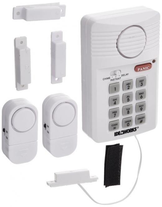 us patrol loud wireless security system door 2 window sensors alarm key pad jobar