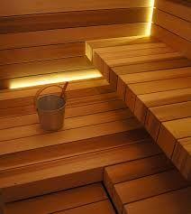 Leds lighting sauna