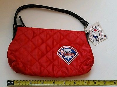 Philadelphia Phillies NEW Quilted Wristlet Purse Littlearth Genuine MLB Red