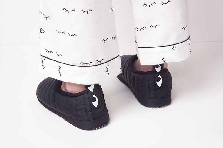 Slippers with look and feel of mini sleeping bags for your feet.