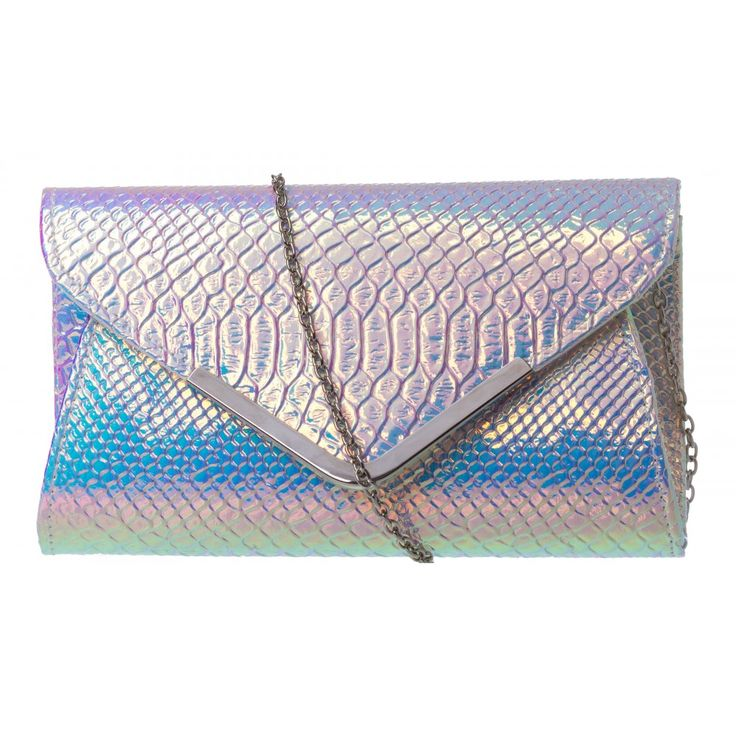 Small Plain Clare Clutch in HOLOGRAM #20807 - colette by colette hayman