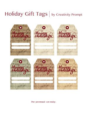 263 best free printables tags images on pinterest printable more holiday gift tags negle Images