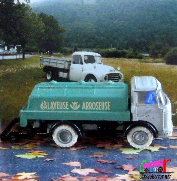 PRODUCTION 1962 Balayeuse et arroseuse pour ce Berliet Gak, échelle 1/43, made in France, réf: 106.
