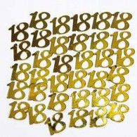 Scatterfetti Number 18 Gold 15gms $2.95 B400135