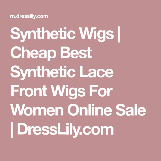 Synthetic Wigs   Cheap Best Synthetic Lace Front Wigs For Women Online Sale   DressLily.com