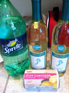 Moscato Punch. Recommended by @Christina Stewart :) Looks like a great summer drink!