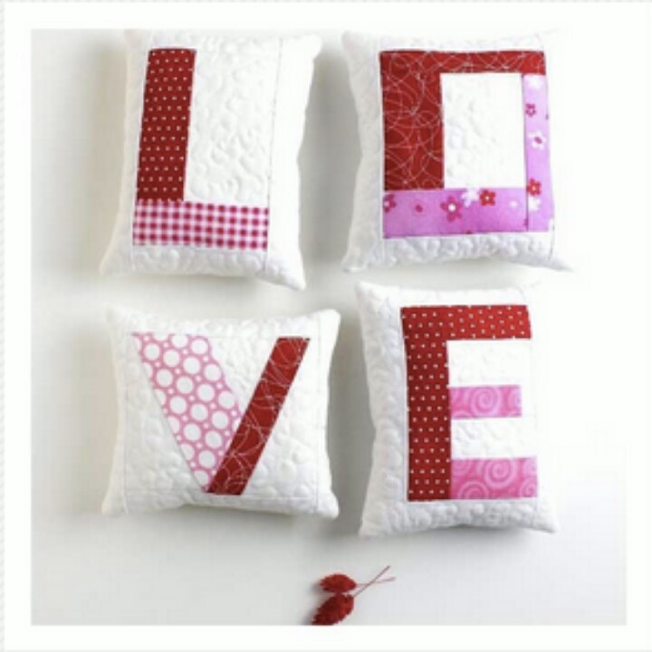 This would be cute to make into a throw for valentines day