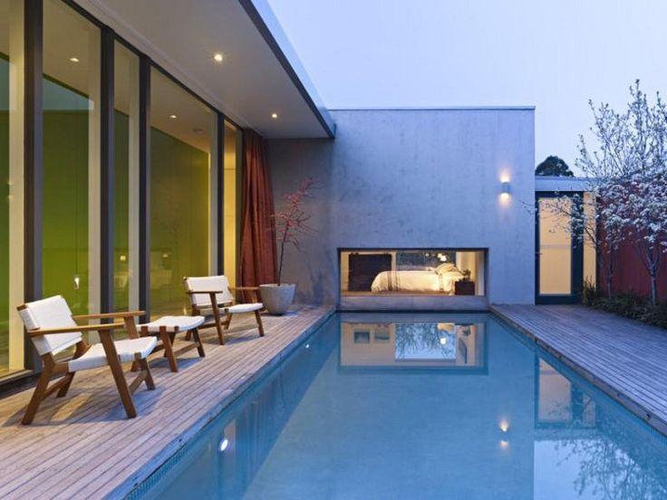 Maison avec piscine piscines pinterest cabanes de piscine piscines et la maison de mes r ves - La cabane de mes reves ...