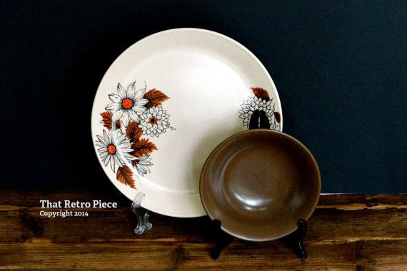 Johnson of Australia 'Russet' set for two  by ThatRetroPiece, $18.00