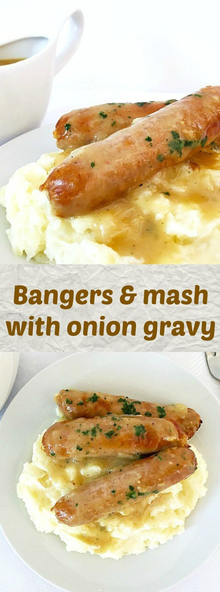 Bangers & mash recipe with onion gravy, a true British classic that pretty much sums up what comfort food is all about. Enjoyed throughout the year, but even more on Bonfire Night, this recipe is truly amazing!