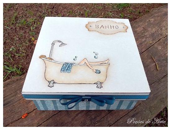 Lojinha Poções de Arte: Caixa Banho - Azul.