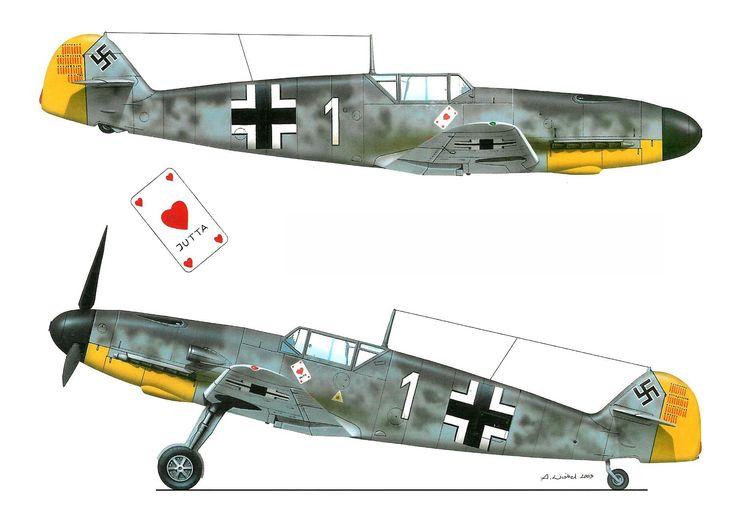 Messerschmitt Bf-109F-3, «Blanco 1», Oblt. Josef Priller, Staffelkapitän de la 1./JG.26 «Schlageter», St. Omer-Arques, Francia, Julio de 1941. http://www.elgrancapitan.org/foro/viewtopic.php?f=52&t=17924&p=915165#p915133