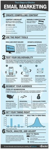 The 6 steps of effective email marketing  #internet #marketing #infographic