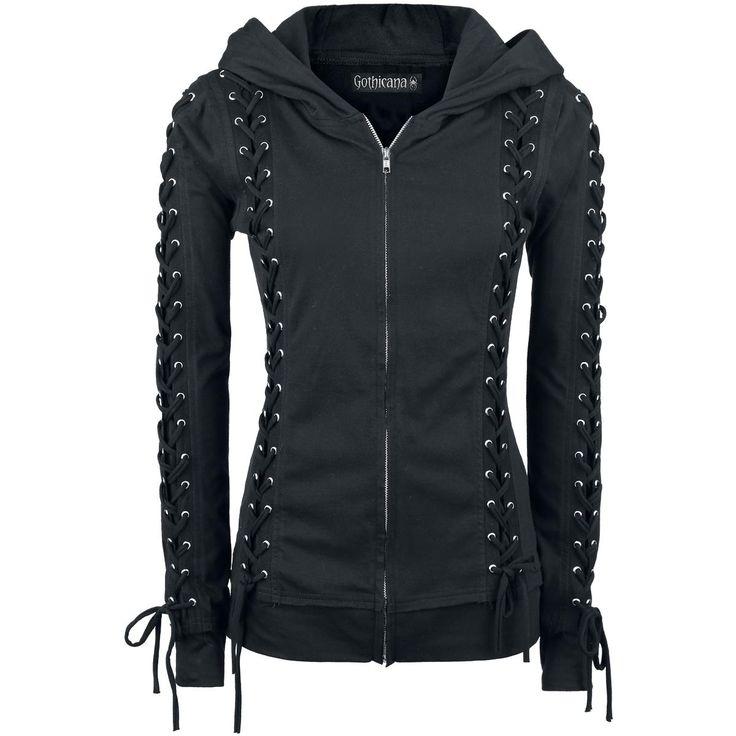 Corded Hood - Felpa jogging donna by Gothicana - Codice articolo: 274786 - da 39,99 € - EMP Italia - T-shirt, Merchandise, Abbigliamento Roc...