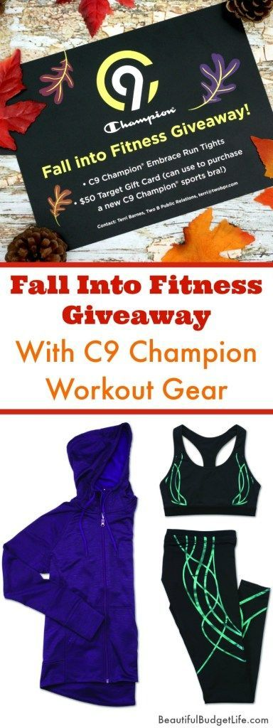 Why not treat yourself to some new workout gear...or better yet, win some in our Fall Into Fitness Giveaway with C9 Champion.