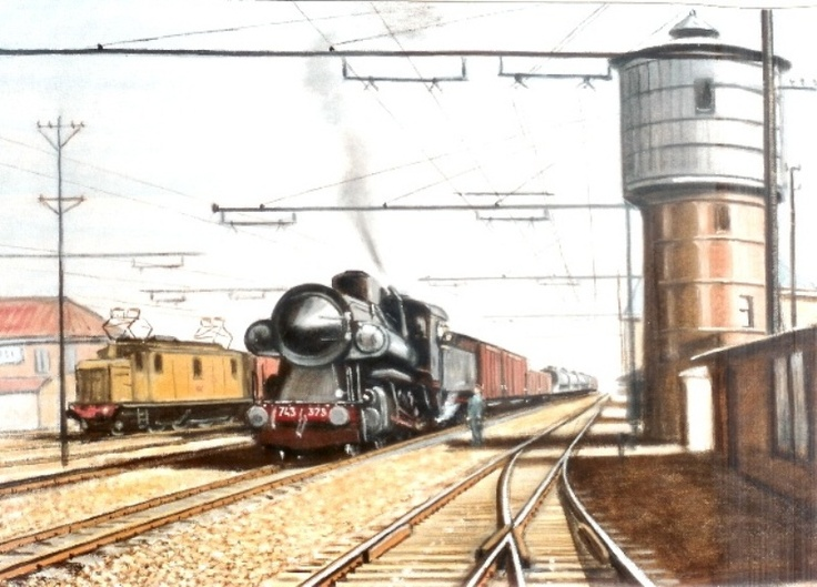 17 best images about railroads and art hans kaas on pinterest great western amsterdam and - Dr picture essing onder helling ...