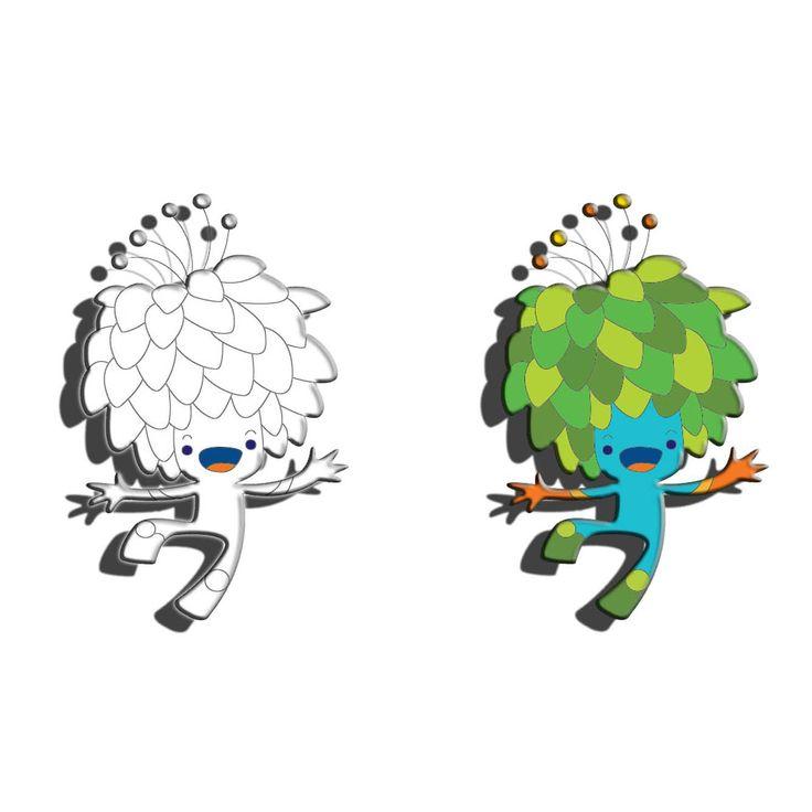 mascote das olimpiadas rio 2016 para colorir