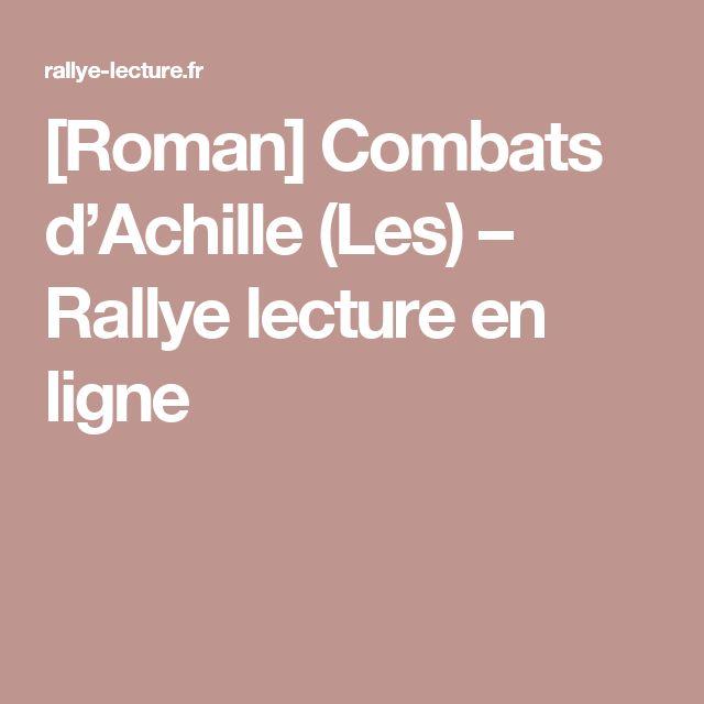 [Roman] Combats d'Achille (Les) – Rallye lecture en ligne