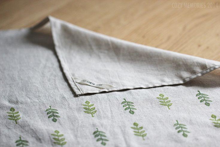 Foliage tea towel - by Cozy Memories