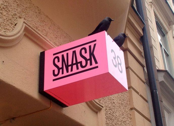 Signage for design studio Snask.