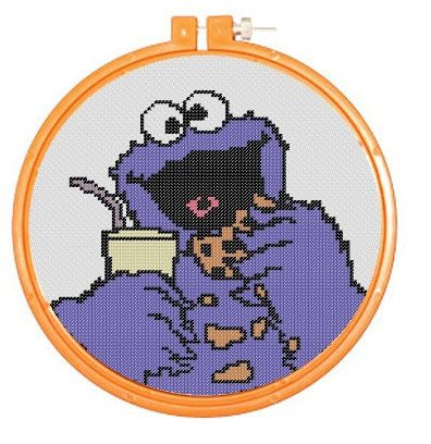 COOKIE MONSTER PDF Cross Stitch Pattern by RetroLOOMINOTIONS, £2.50