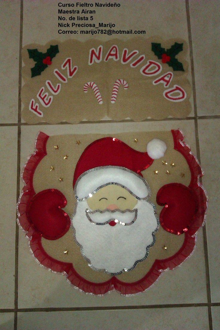 Como hacer juegos de baño navideños en fieltro - Imagui                                                                                                                                                                                 Más